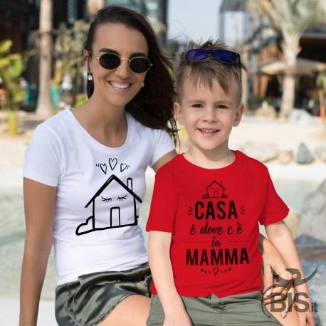 maglietta mamma figlio casa