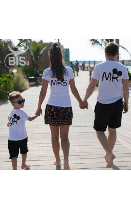 Family T- Shirt Set Mr Mrs Jr