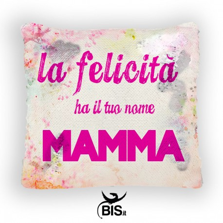 Magic Pillow - federa cuscino paillette personalizzabile con foto