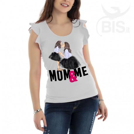 """Maglia donna con maniche ad alette """"Mom & Me"""""""