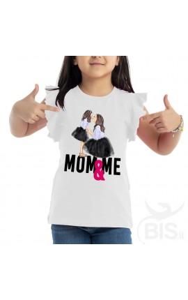 """T-shirt bimba con maniche ad alette """"Mom & Me"""""""