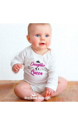"Baby Girl Bodysuit ""Daughter of a Queen"""