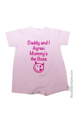 Baby romper ''Daddy and I Agree, Mommy's the Boss''