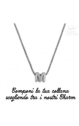"""Collana \""""Made By Me\"""" personalizzabile con 1 elemento"""