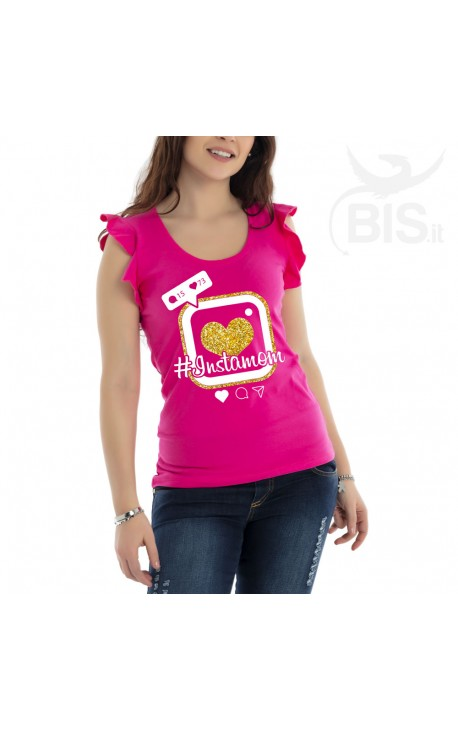 """""""Instamom"""" women's t-shirt with wing sleeves"""