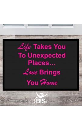 """Zerbino """"La vita ti porta in luoghi inaspettati...l'amore ti porta a casa"""""""