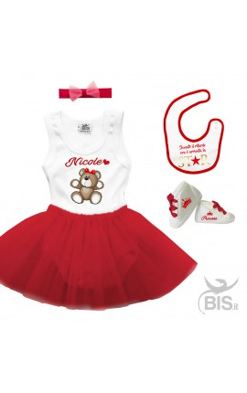 Red tulle outfit newborn girl