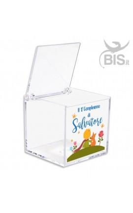 """Kit 5 pezzi Porta confetti in plexiglass a tema """"Piccolo principe"""""""