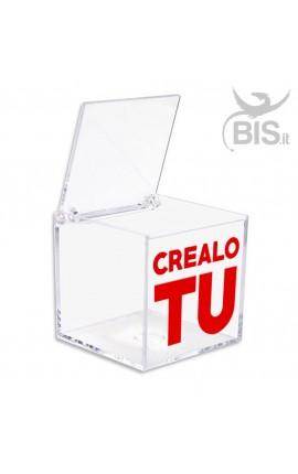 Kit 5 pezzi Porta confetti in plexiglass da personalizzare