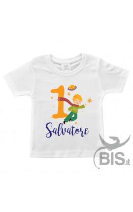 T-shirt bimbo compleanno a tema PICCOLO PRINCIPE