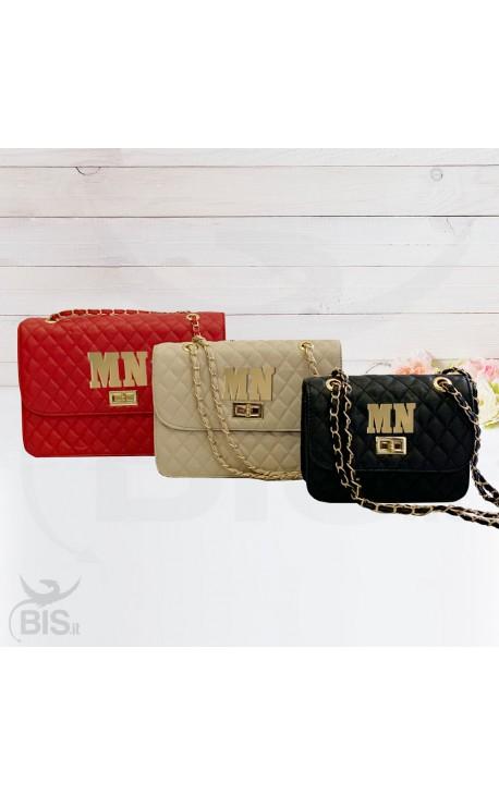 """""""Romantic bag"""" ecopelle con iniziali in plexiglass da personalizzare"""