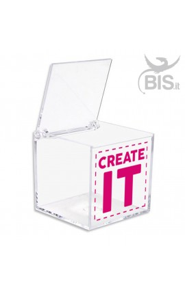 Portaconfetti in plexiglass a tema unicorno