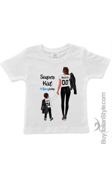 "T-shirt bimbo ""Super kid"""