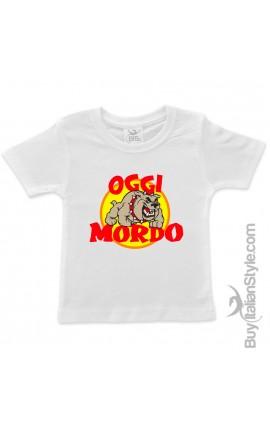 """T-shirt bimbo """"Oggi Mordo"""""""