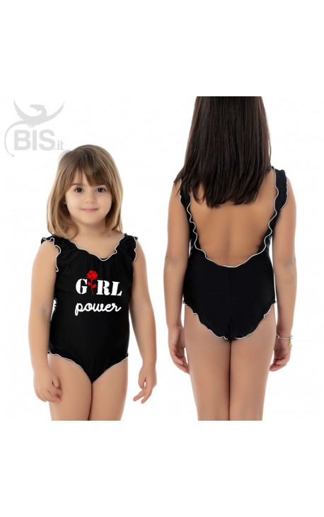 "Little Girl's One Piece Swimsuit ""GIRL POWER"""