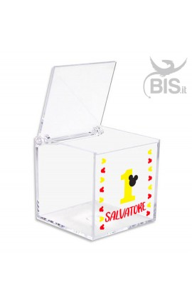 "Kit 5 pieces Confetti Box in plexiglass ""Sailor"" themed"