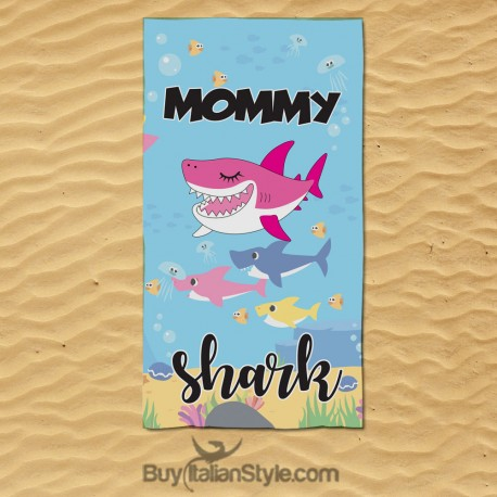 Telo mare MOMMY SHARK