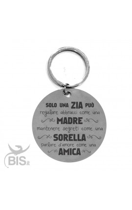 Keychain with dedication for the aunt