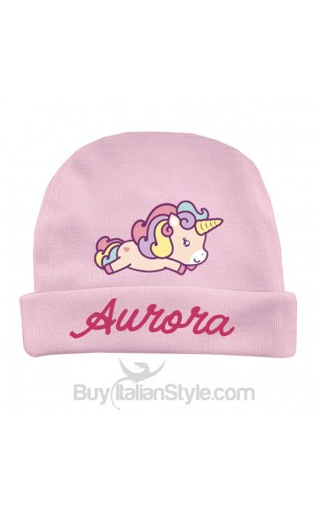 """Cappellino da personalizzare a tema """"Baby Unicorn"""""""