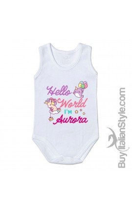 "Body neonata ""Baby Unicorn"" da personalizzare"