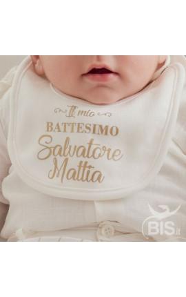 """Bavaglino """" Il mio Battesimo"""" da personalizzare"""