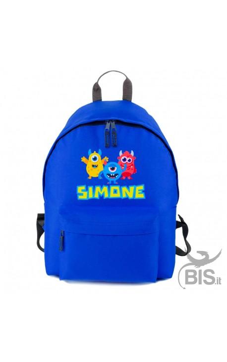 """Zaino bimbo/bimba MINI/MAXI BASIC personalizzabile con nome """"Mostri"""""""
