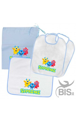 "Kit Nursey School ""Baby Shark"" customizable with name"