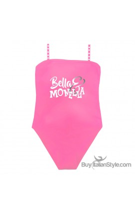 One piece little girl swimsuit, BELLA & MONELLA print