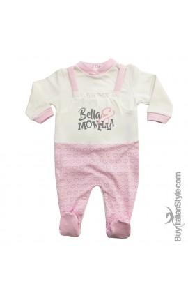 """Tutina neonata invernale salopette cuori """"Bella & Monella"""""""
