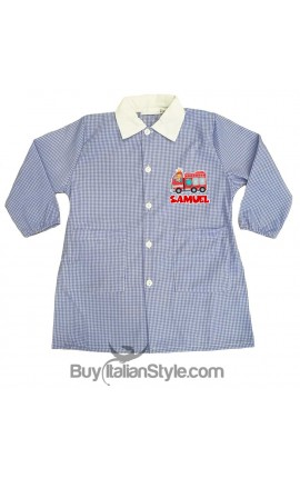 Personalized  Checked School Apron, Name + Monsters