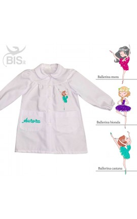"""Grembiule femminuccia """"Ballerina"""" personalizzabile con NOME"""