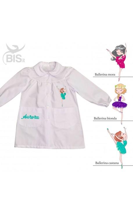 """Grembiule femminuccia """"Ballerina"""", personalizzabile con NOME"""
