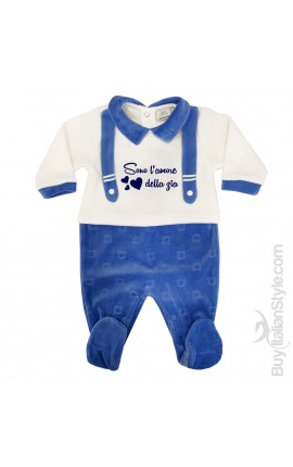 """Newborn Chenille Bodysuit Teddy bear weave """"You change my nappy and I change your life"""""""