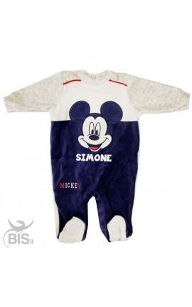 """Tutina neonato ciniglia """"Mickey mouse"""""""