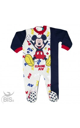 Newborn pajamas in warm cotton, Mickey Mouse