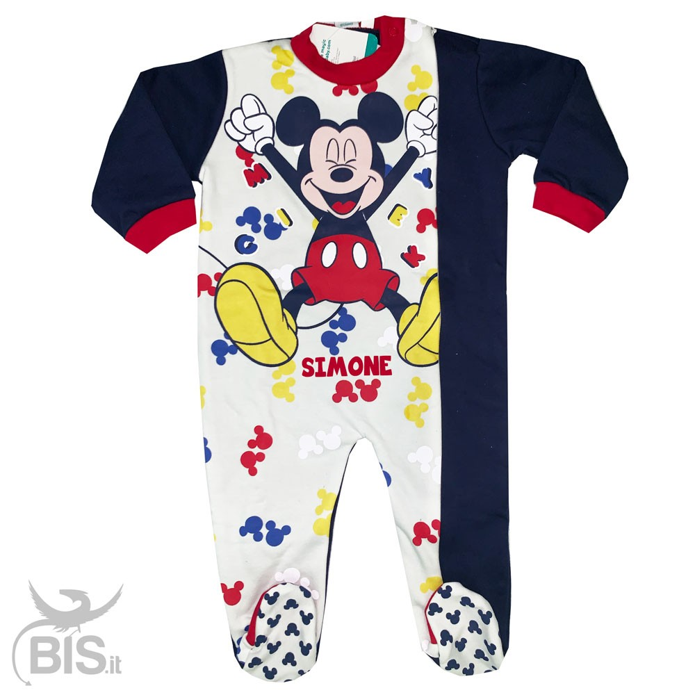 Pigiama Bambino Bambina Invernale Caldo Cotone Disney Minnie Mickey Mouse Topolino