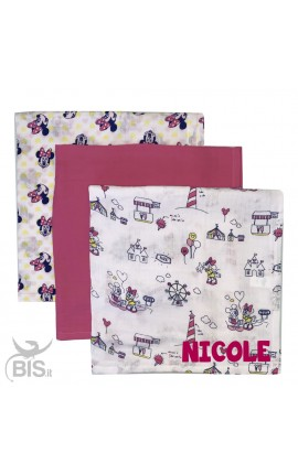 "Quadrati linea disney ""Minnie + nome"""