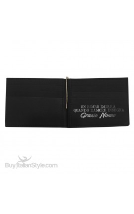 "Leather Man Wallet ""...to us you are the world"""