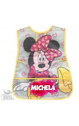 "Newborn Plastic Apron ""Minnie + name"""
