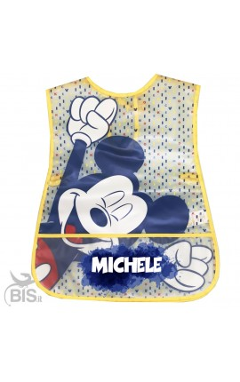 "Newborn Plastic Apron ""Mickey Mouse + name"""