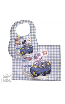 "Newborn Placemat & Bib ""Mickey Mouse"""