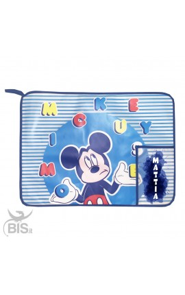 "Plastic Placemat ""Mickey Mouse"", customizable with name"