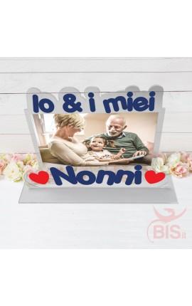 """Targhetta in plexiglass """"Io & i miei Nonni"""""""