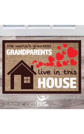 """Zerbino """"In questa casa vivono i nonni miglior del mondo"""""""