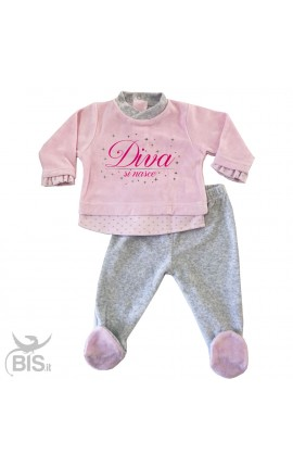 "Clinic Chenille Outfit ""Born to be a diva"""
