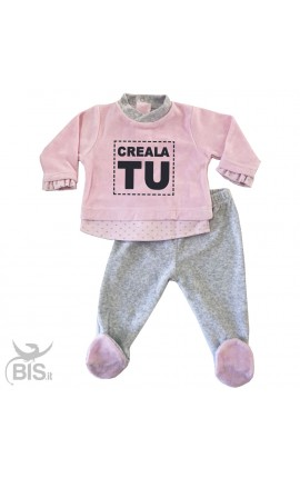 Pink & Grey Chenille Clinic Outfit, to customize
