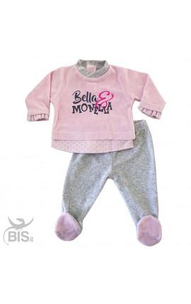 """Completino Clinica rosa e grigio """"Bella & Monella"""""""
