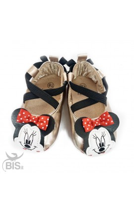 """Minnie"" Newborn Flat Shoes"
