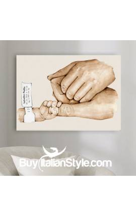 "Photo-Painting ""Birth Hands"", customizable"
