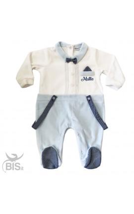 """Tutina neonata in ciniglia """"Orsetto"""" da personalizzare"""